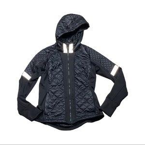Athleta goose down zip up hooded jacket